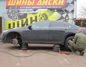 Поменять шины, балансировка колес